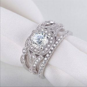 Jewelry - Sterling Silver Engagement Ring Set